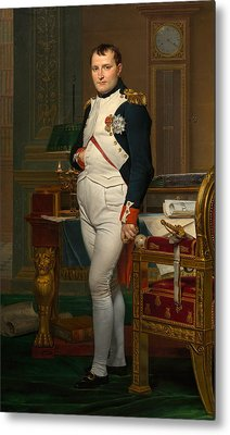 Emperor Napoleon In His Study At The Tuileries Metal Print by War Is Hell Store