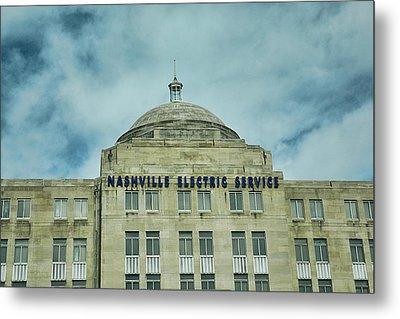 Nashville Electric Service Building Metal Print by Jai Johnson