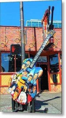 Nashville Legends Guitar Metal Print by Dan Sproul