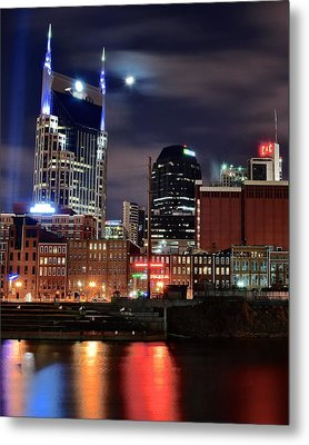 Nashville Nights Metal Print by Frozen in Time Fine Art Photography
