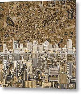 Nashville Skyline Abstract 2 Metal Print by Bekim Art