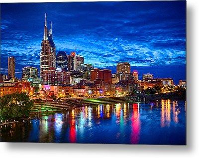 Nashville Skyline Metal Print by Dan Holland