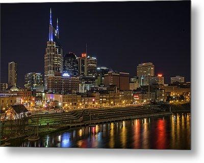 Nashville Skyline Metal Print by Rick Berk