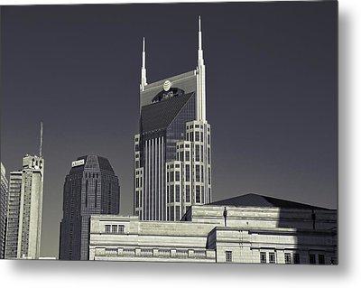 Nashville Tennessee Batman Building Metal Print by Dan Sproul