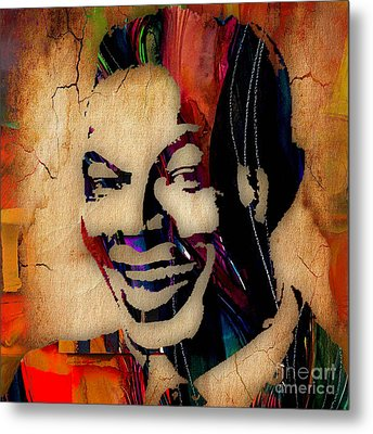 Nat King Cole Collection Metal Print by Marvin Blaine
