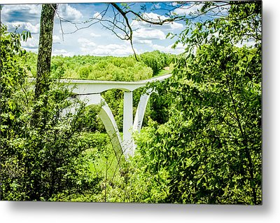 Natchez Trace Bridge Metal Print by Geoff Mckay