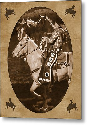 National Western Stock Show Metal Print by Priscilla Burgers