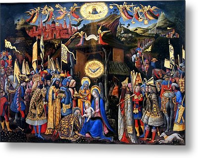 Nativity Angels Metal Print by Munir Alawi