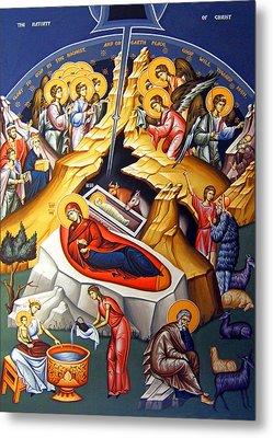 Nativity Story Metal Print by Munir Alawi