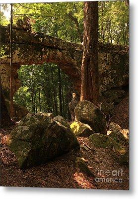 Natural Bridge  Metal Print by Janet Felts