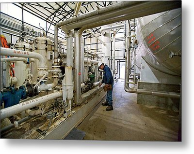 Natural Gas Processing Plant Metal Print by Jim West