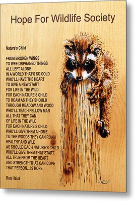 Nature's Child Metal Print by Ron Haist