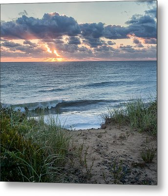 Nauset Light Beach Sunrise Square Metal Print by Bill Wakeley