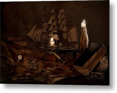 Nautically Inspired Metal Print by Mary Tomaino