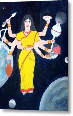 Nava Durga Kusmaanda Metal Print by Pratyasha Nithin