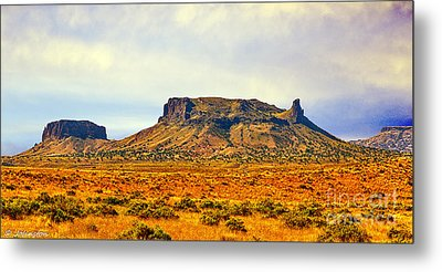 Navajo Nation Monument Valley Metal Print by Bob and Nadine Johnston