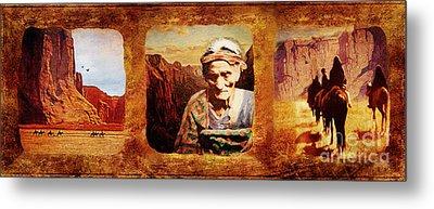 Navajo Triptych  Metal Print by Lianne Schneider