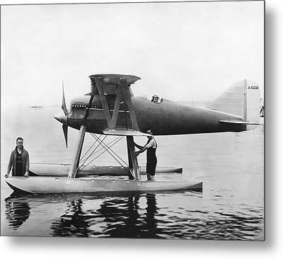 Navy Curtis Seaplane Racer Metal Print by Underwood Archives