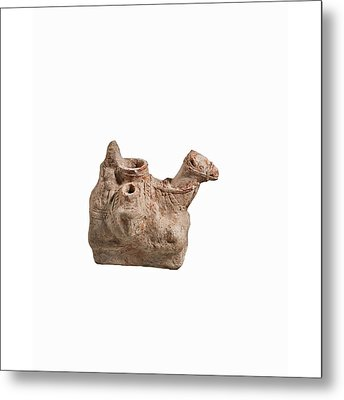 Nebatean Terracotta Vessel Metal Print by Science Photo Library