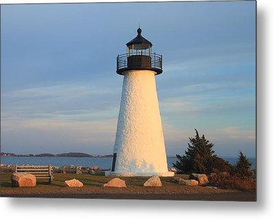 Ned's Point Lighthouse Mattapoisett Massachusetts Metal Print by John Burk