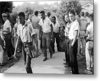 Negroes Going To School Metal Print by Underwood Archives