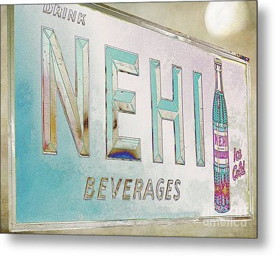 Nehi Ice Cold Beverages Sign Metal Print by Liane Wright