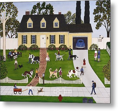Neighborhood Dog Show Metal Print by Linda Mears