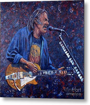 Neil Young Metal Print by John Cruse Knotts
