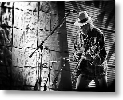 Neil Young Live In Concert Metal Print by Jennifer Rondinelli Reilly - Fine Art Photography