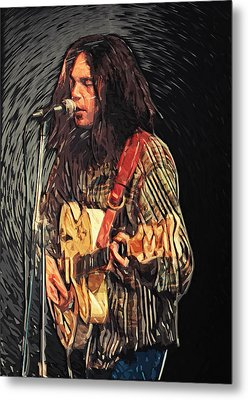 Neil Young Metal Print by Taylan Soyturk