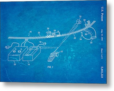 Neil Young Train Control Patent Art 1995 Blueprint Metal Print by Ian Monk