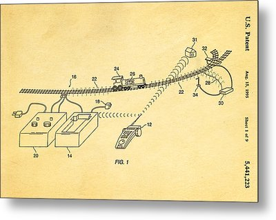 Neil Young Train Control Patent Art 1995 Metal Print by Ian Monk