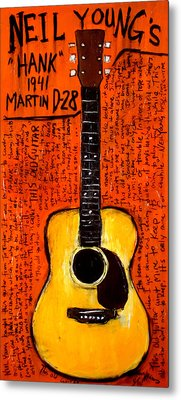 Neil Youngs Hank Martin Guitar Metal Print by Karl Haglund
