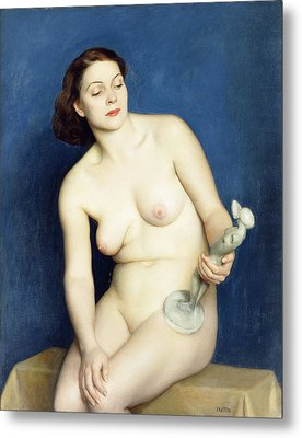 Nellie And Phryne Metal Print by William McGregor Paxton