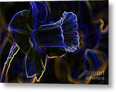 Neon Flowers Metal Print by Charles Dobbs