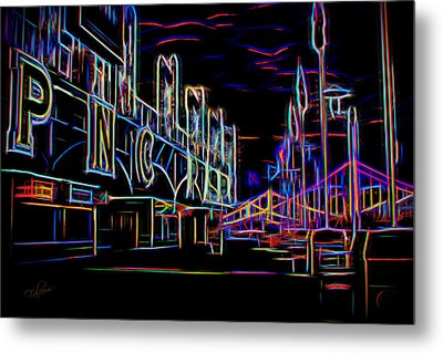 Neon Nights At Pnc Park 1 Metal Print by Stephen Falavolito