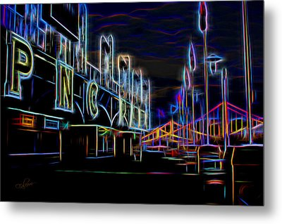 Neon Nights At Pnc Park 2 Metal Print by Stephen Falavolito