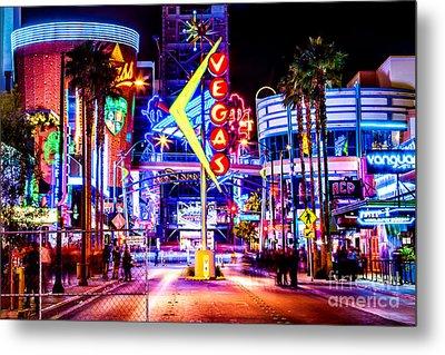 Neon Vegas Metal Print by Az Jackson