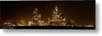 Nesher Cement Plant Metal Print by Isaac Silman