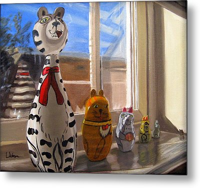 Nested Cats Metal Print by LaVonne Hand