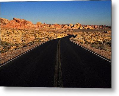 Nevada. Desert Road Metal Print by Anonymous