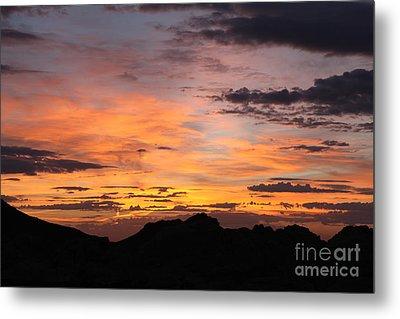 Nevada Sunrise Metal Print by Trekkerimages Photography