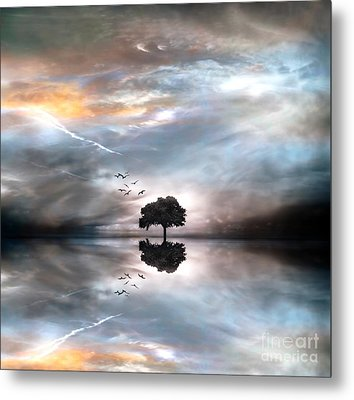 Never Alone Metal Print by Jacky Gerritsen