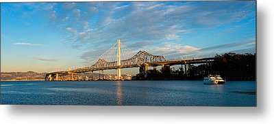 New And Old Eastern Span Metal Print by Panoramic Images