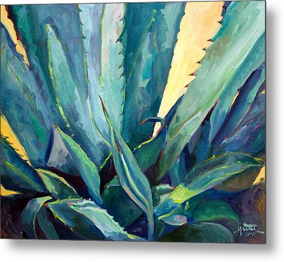 New Blue Agave Metal Print by Athena  Mantle