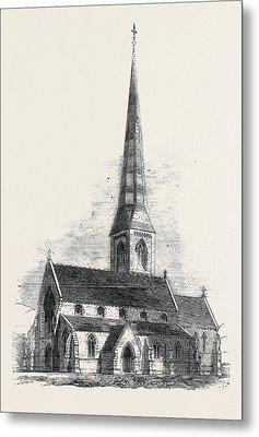 New Church At Powerscourt Wicklow Metal Print by English School