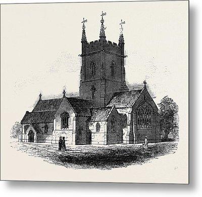 New Church At Surbiton Metal Print by English School