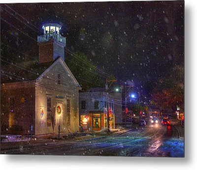 New England Winter - Stowe Vermont Metal Print by Joann Vitali