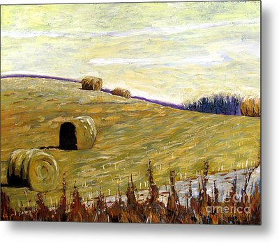 New Haybales Metal Print by Charlie Spear