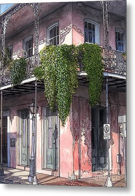 New Orleans Balcony Metal Print by John Boles